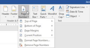 Hướng dẫn cách đánh số trang trong word 2016