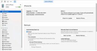 Hướng dẫn Backup Restore dữ liệu thiết bị Apple bằng Itunes
