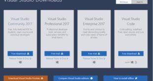 Bổ sung công cụ lập trình Visual Studio 2017